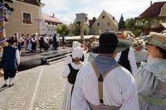 Funcionamiento de la danza en el festival histórico Fotografía de archivo