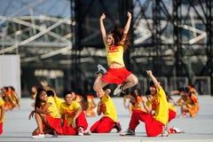 Funcionamiento de la danza en NDP 2012 Foto de archivo libre de regalías