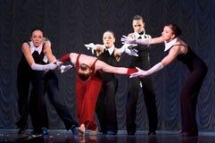 Funcionamiento de la danza moderna Imagenes de archivo