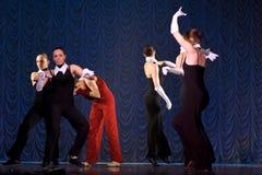 Funcionamiento de la danza moderna Fotografía de archivo