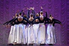 Funcionamiento de la danza moderna Imagen de archivo libre de regalías