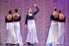 Funcionamiento de la danza moderna Foto de archivo