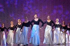 Funcionamiento de la danza moderna Fotos de archivo libres de regalías