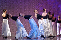 Funcionamiento de la danza moderna Imágenes de archivo libres de regalías
