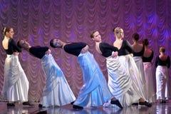 Funcionamiento de la danza moderna Foto de archivo libre de regalías