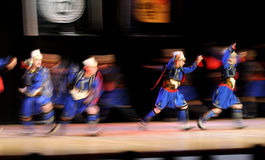 Funcionamiento de la danza popular Fotografía de archivo libre de regalías