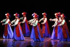 Funcionamiento de la danza tradicional coreana de Busán Foto de archivo