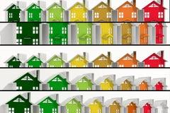 Funcionamiento de la energía de los edificios de las banderas Imagenes de archivo