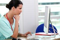 Funcionamiento de la enfermera Imagen de archivo