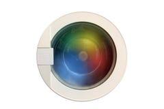 Funcionamiento de la lavadora Fotos de archivo