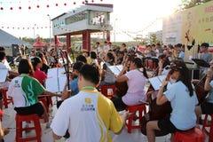 Funcionamiento de la música de China Fotografía de archivo libre de regalías