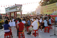 Funcionamiento de la música de China Fotos de archivo