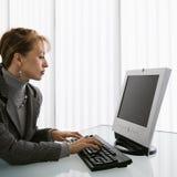 Funcionamiento de la mujer. Imágenes de archivo libres de regalías