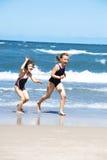 Funcionamiento de la playa Foto de archivo libre de regalías