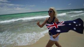 Funcionamiento de las playas de Perth almacen de video