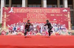 Funcionamiento de los artes marciales de la nacionalidad de Shes Imagenes de archivo