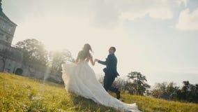 Funcionamiento de los pares de la boda almacen de video