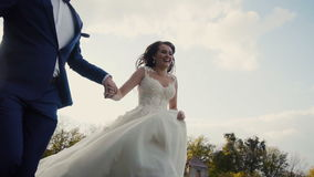 Funcionamiento de los pares de la boda almacen de metraje de vídeo