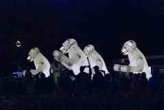 Funcionamiento de teatro del Menage de Remue en el parque de Gorki en Moscú Imagenes de archivo