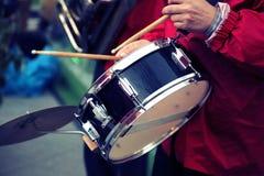 Funcionamiento de una banda de jazz Foto de archivo libre de regalías