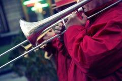 Funcionamiento de una banda de jazz Foto de archivo