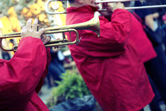 Funcionamiento de una banda de jazz Fotografía de archivo libre de regalías