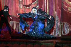 Funcionamiento del Año Nuevo en teatro del aficionado del moscower Foto de archivo