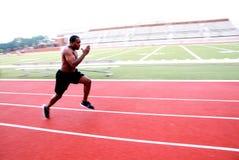 Funcionamiento del atleta Foto de archivo libre de regalías