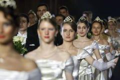Funcionamiento del ballet en la bola de Viena en Bucarest Fotografía de archivo