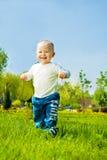 Funcionamiento del bebé Imágenes de archivo libres de regalías