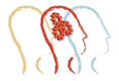 Funcionamiento del cerebro humano Imagen de archivo libre de regalías