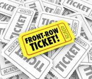 Funcionamiento del cierre de la opinión de Front Row Ticket Special que asienta VIP mejor Fotos de archivo libres de regalías