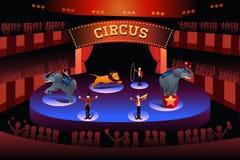Funcionamiento del circo Foto de archivo libre de regalías