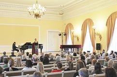 Funcionamiento del concierto en la academia, Lituania fotos de archivo libres de regalías