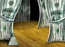 Funcionamiento del dinero Imagen de archivo libre de regalías