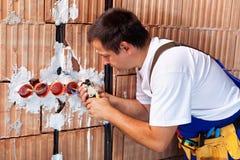 Funcionamiento del electricista Imagen de archivo