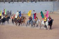 Funcionamiento del Equestrianism fotografía de archivo libre de regalías