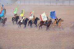 Funcionamiento del Equestrianism foto de archivo