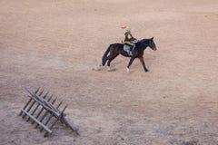 Funcionamiento del Equestrianism foto de archivo libre de regalías