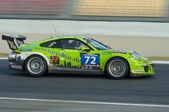 Funcionamiento del equipo HRT Porsche 991 tazas 24 horas de Barcelona Imágenes de archivo libres de regalías