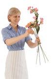 Funcionamiento del florista Fotos de archivo