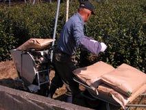 Funcionamiento del granjero Foto de archivo libre de regalías