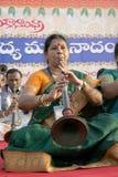 Funcionamiento del grupo de la música tradicional india Foto de archivo