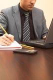 Funcionamiento del hombre de negocios Imagen de archivo