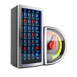 Funcionamiento del servidor Fotografía de archivo libre de regalías