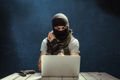 Funcionamiento del terrorista imagen de archivo libre de regalías