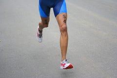 Funcionamiento del Triathlon Fotos de archivo libres de regalías