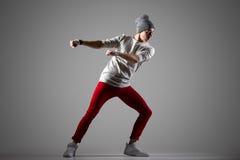 Funcionamiento elegante del bailarín Fotos de archivo libres de regalías