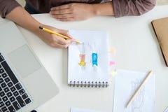 Funcionamiento elegante del diseñador de moda como medida de los diseñadores de moda como Imagen de archivo libre de regalías