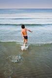 Funcionamiento en el agua Imagen de archivo libre de regalías